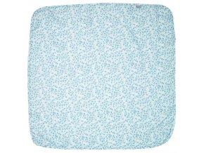 Kék multifunkcionális Muszlin pelenka 110 x 110 cm Leopard Blue