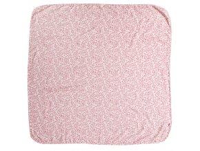 Multifunkcionális rózsaszín Muszlin pelenka  110 x 110 cm Leopard Pink