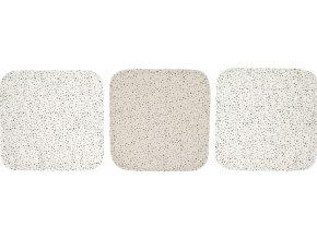 Muszlin arctörlő kendő 3 db csomagolásban Fabulous Dots