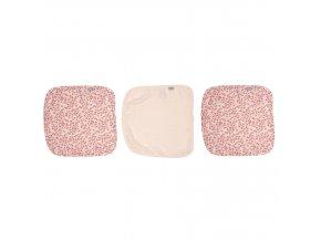 Rózsaszín Muszlin arctörlő kendő 3 db csomagolásban Leopard Pink