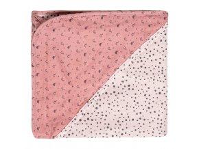 Puha rózsaszín muszlin  törülköző bambusszal és kapucnival