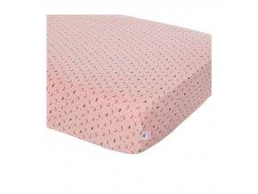 rózsaszín gumis lepedő 60 x 120 Bébé-Jou Fabulous Swan