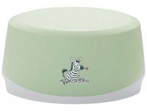 Ovális fürdőszoba zöld fellépő Bébé-Jou Dinky Zebra