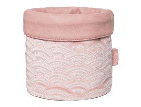 rózsaszín Textil tárolókosár babaápolási kellékre Bébé-Jou Fabulous Mellow Rose