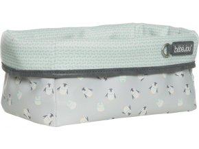 Nagyobb textil tárolókosár 27 × 19 babaápolási kellékre Bébé-Jou Lou-Lou
