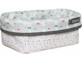 Nagyobb textil tárolókosár 27 × 19 babaápolási kellékre Bébé-Jou Wheely