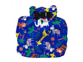 Vízhatlan pelenkatároló táska Safari Celebration Blue