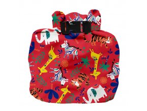 Vízhatlan pelenkatároló táska Safari Celebration Red