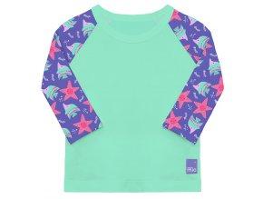 Védő póló, UV 50+, Violet, méret M