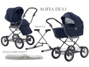 Inglesina Sofia Duo 2020 Sailor Blue Ergo Bike vázzal