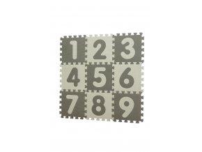 Baby Dan Puzzle habszivacs játszószőnyeg Grey, számokkal 90x90 cm