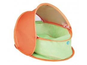 dBb Babafészek utazáshoz, UV-védelemmel, narancssárga-zöld