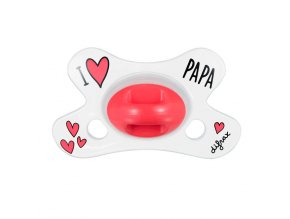 Difrax anatomikus cumi I LOVE PAPA 0+