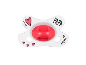 Difrax anatomikus cumi újszülöttek számára, I LOVE PAPA