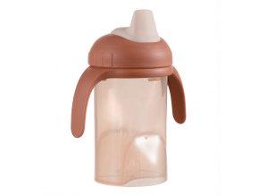 Difrax tanuló pohár puha ivócsővel - rózsaszín