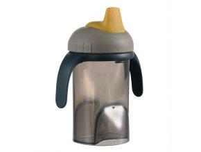 Difrax tanuló pohár puha ivócsővel - szürke