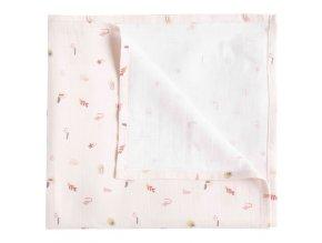 Luma Bambusz muszlin pelenka 110 x 110 cm Sunset Shapes