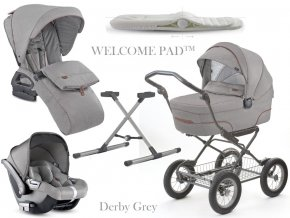 Inglesina Quad Cab 4 in 1 Derby Grey szett Comfort Bike vázzal