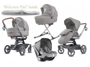 Inglesina Quad Cab 4 in 1 Derby Grey szett Quad vázzal