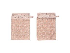 Frottír fürdő törlőkendő szett Bébé-Jou Fabulous Wish Pink 2ks