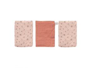 Muszlin törlő kendő 3 db csomagolásban Bébé-Jou Fabulous Wish Pink rózsaszín