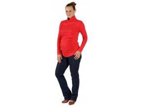 Těhotenské tričko Rialto Tolmachan červené 0069 (Dámská velikost 38)
