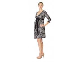 Rialto Laffaux kismama/szoptatós ruha - fekete-fehér 0534