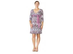 Rialto Laffaux kismama/szoptatós ruha rózsaszín-menta 0529