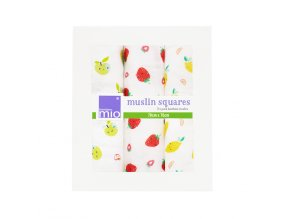 Bambino Mio Bambusz muszlin kendő 3 db Cute Fruit