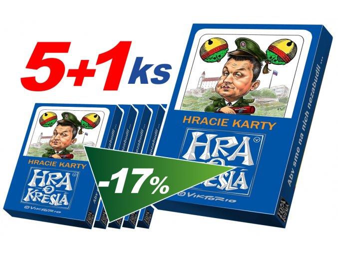 """Sedmové karty """"Hra o kreslá"""" 5+1 zdarma"""