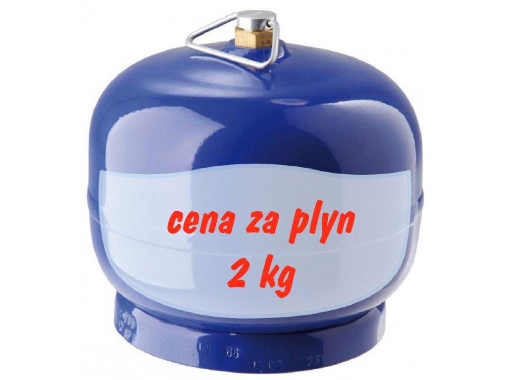 Tlaková lahev 2 kg - REPASOVANÁ  Láhev propan butan 2 kg