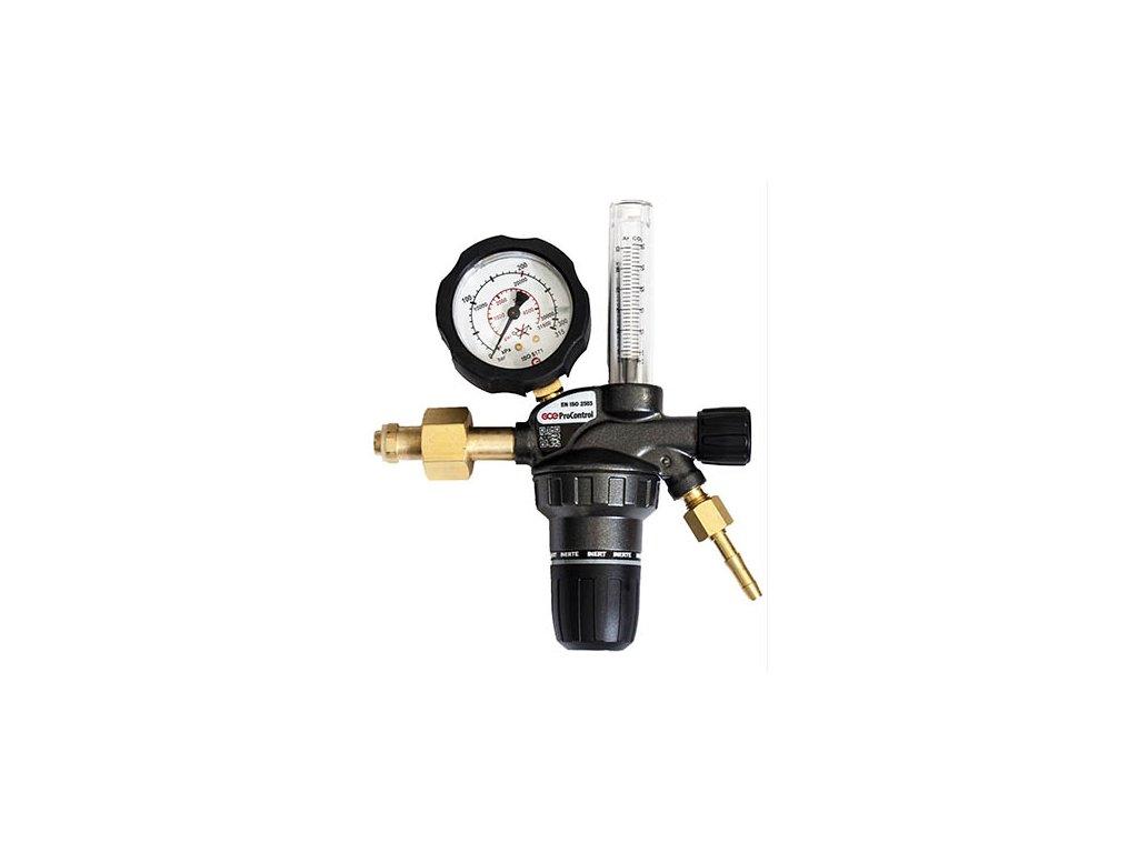 Redukční ventil GCE ProControl - ARGON s plovákovým průtokoměrem  Redukční ventil argon s průtokoměrem
