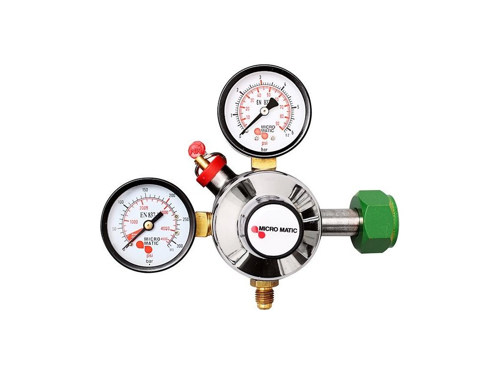 Redukční ventil - DUSÍK potravinářský  Redukční ventil dusík - potravinářský