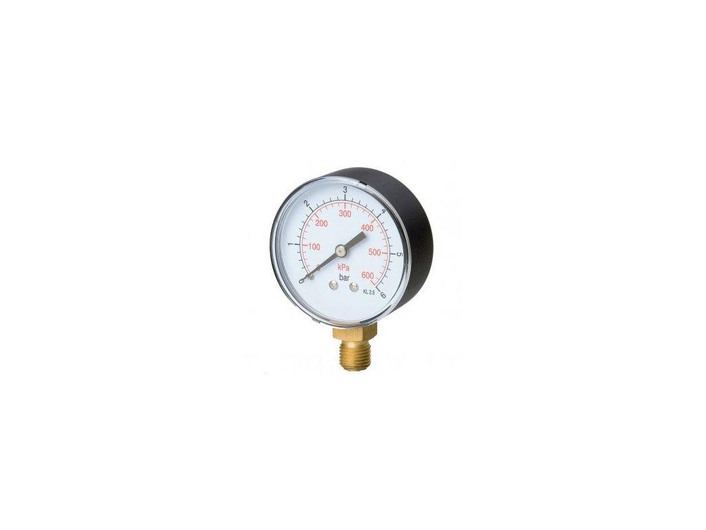 Manometr O2 pr. 50 mm - VÝSTUP  Manometr O2 - výstup