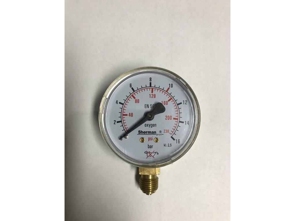 Manometr KYSLÍK pr. 63 mm - VÝSTUP  Manometr O2 - výstup
