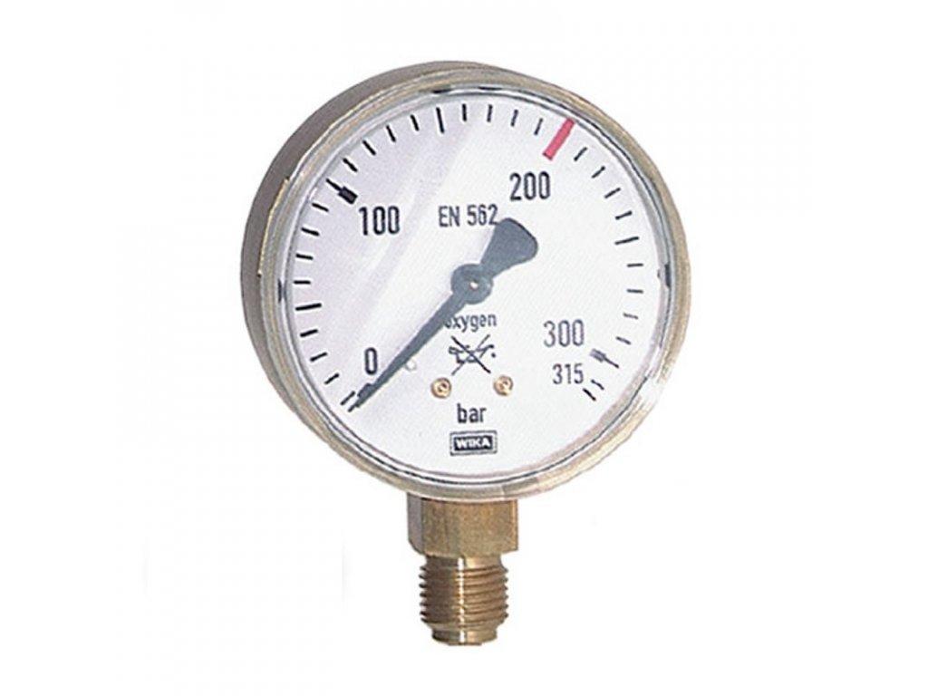 Manometr KYSLÍK pr. 63 mm - VSTUP  Manometr O2 - vstup
