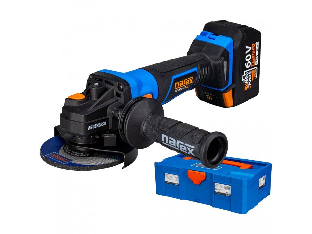 Narex Aku úhlové brusky ABU 125-610 B + 1x baterie 3,0 Ah + kufr (verze 1x baterie Li-lon 3,0 Ah)  Dárek ZDARMA: diamantový kotouč RK DIA pr. 125 mm