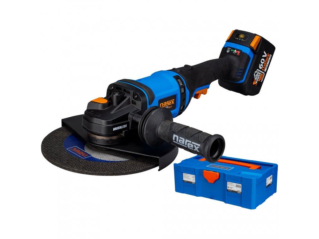 Narex Aku úhlové brusky ABU 230-610 B + 1x baterie 3,0 Ah + kufr (verze 1x baterie Li-lon 3,0 Ah)  Dárek ZDARMA: diamantový kotouč RK DIA pr. 230 mm