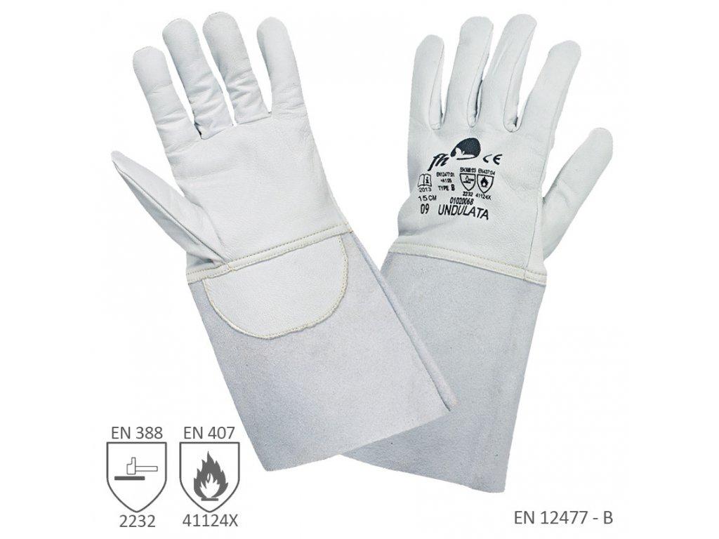 pracovne rukavice undulata zvaracske 3192