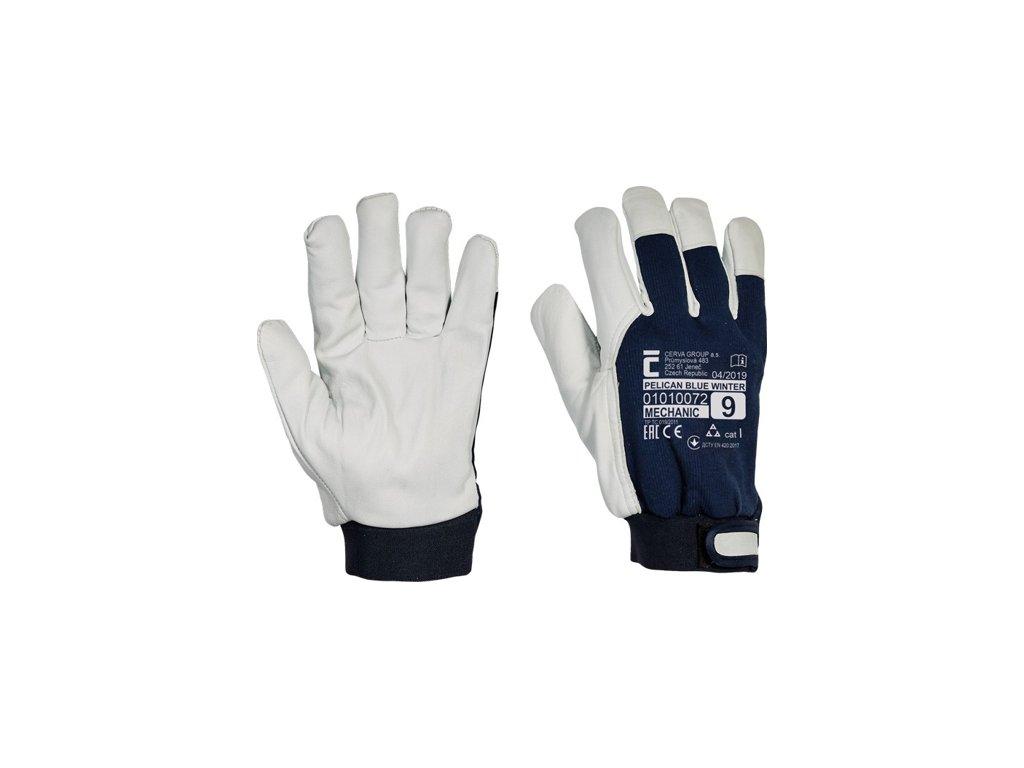 0007051 cerva pelican blue pracovni rukavice zimni 510