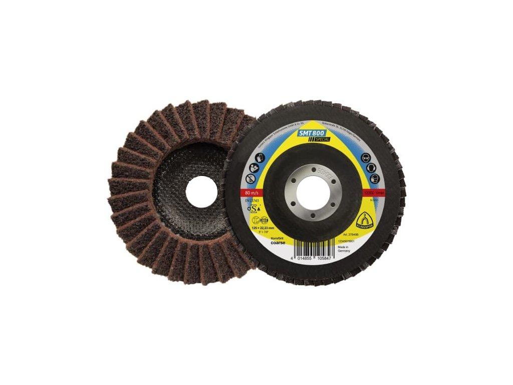 SMT 800 125x22,23 hnědý  Brusné lamelové talíře