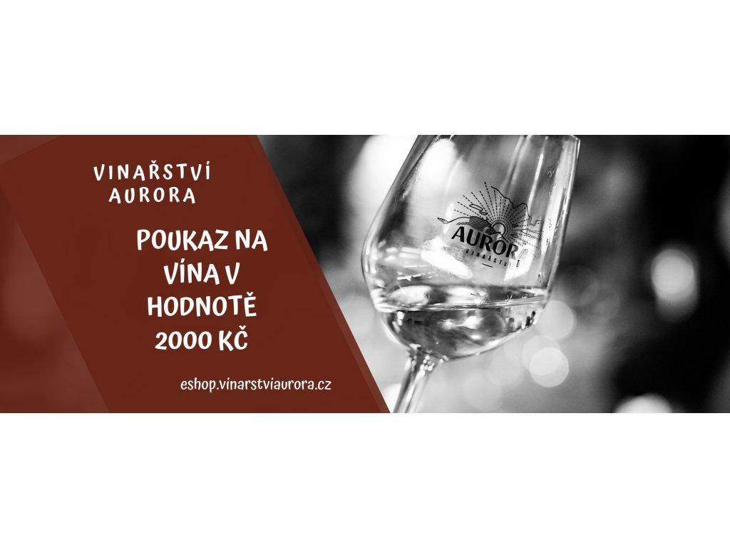 Dárkový poukaz na víno 2000 Kč