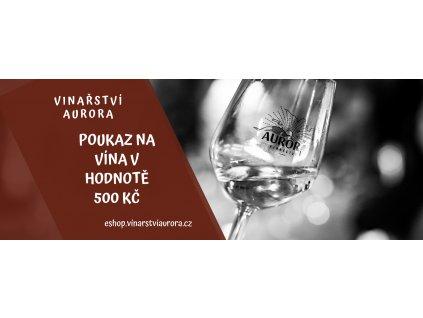 Dárkový poukaz na víno 500 Kč