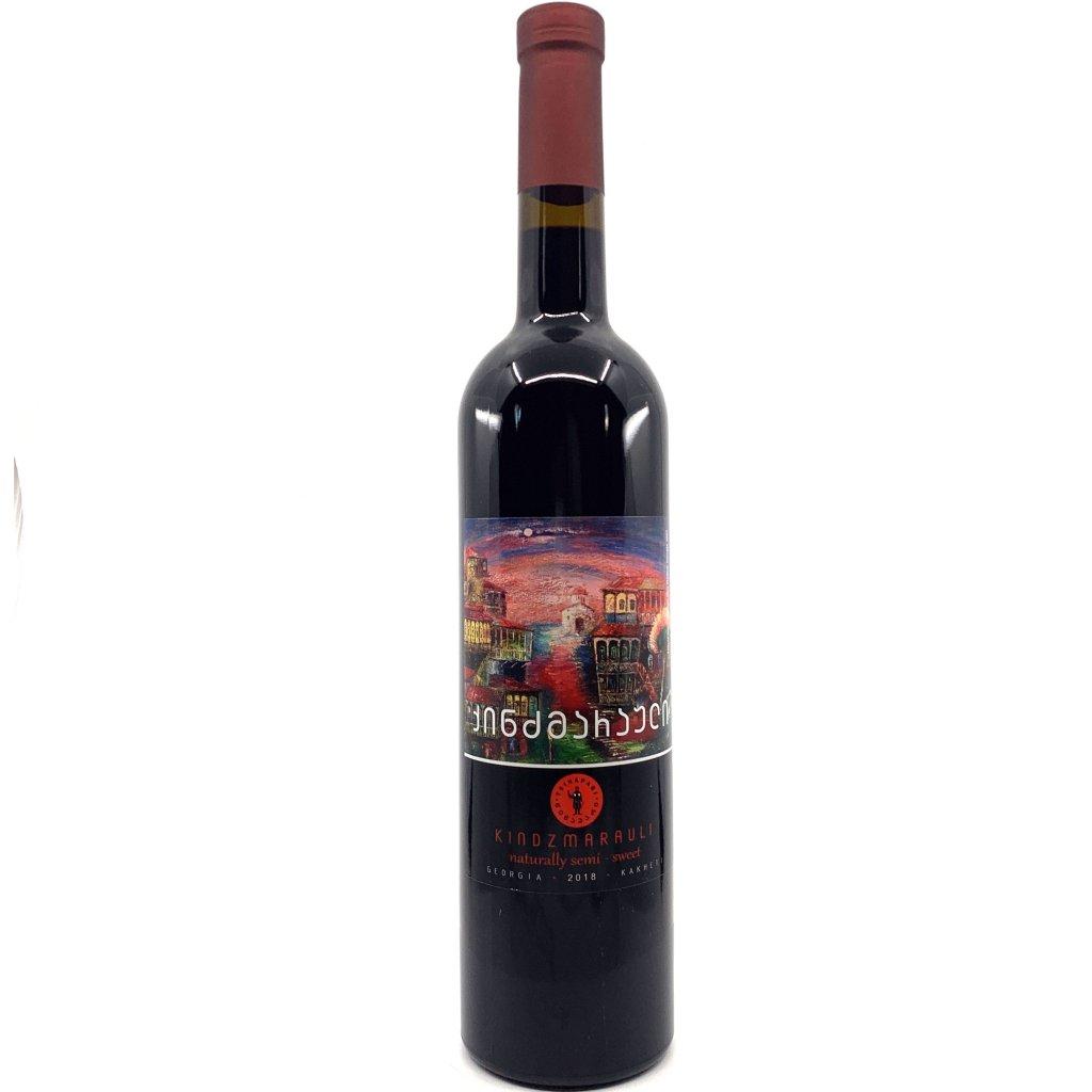 Tsinapari Киндзмараули красное полусладкое грузинское вино 2018 0,75л