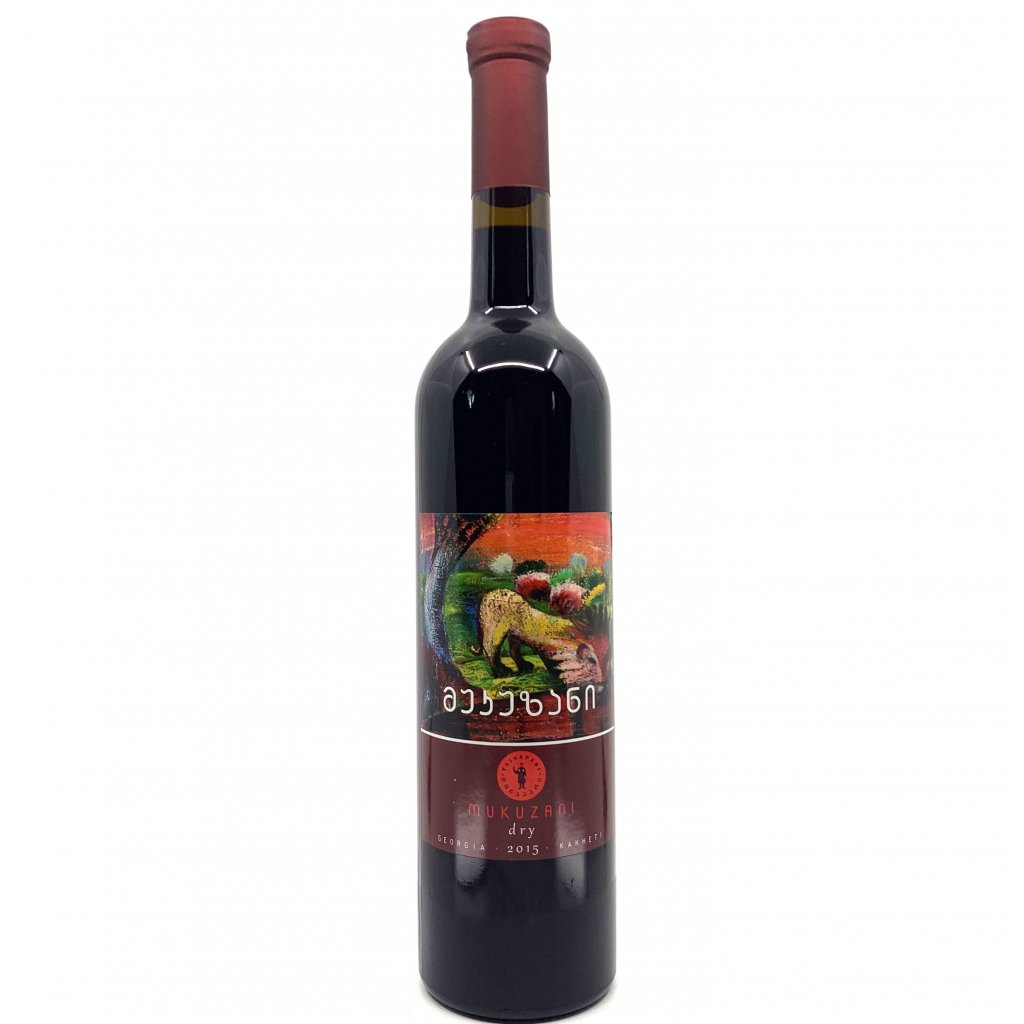 Tsinapari Мукузани красное сухое грузинское вино 2017 0,75л