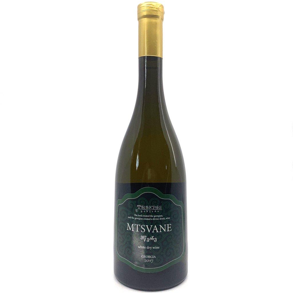 Tsiskari Мцване белое сухое грузинское вино 2017 0,75л
