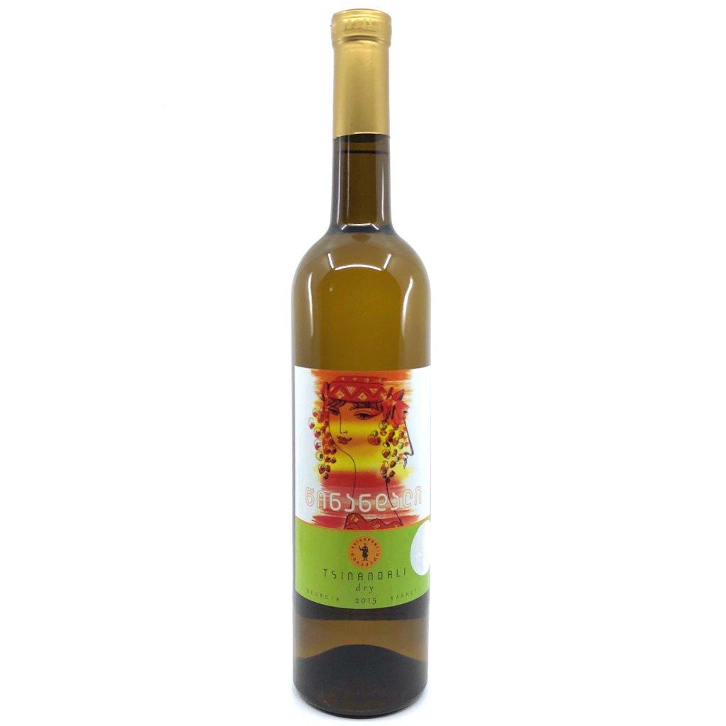 Tsinapari Цинандали белое сухое грузинское вино 2018 0,75л