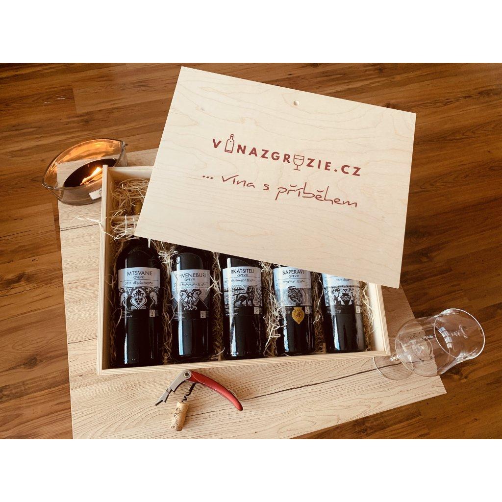Degustační dárkový box autentických Qvevri vín №2