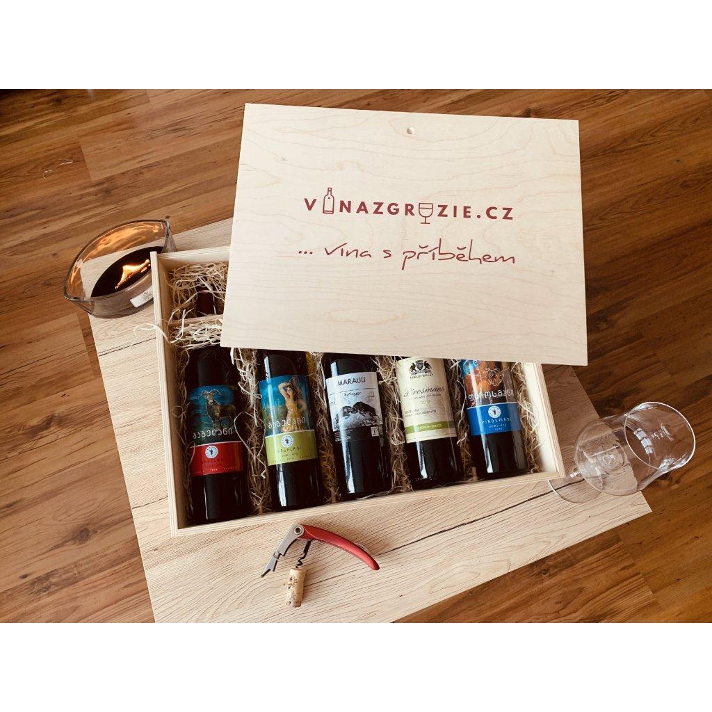 Degustační dárkový box polosuchých vín