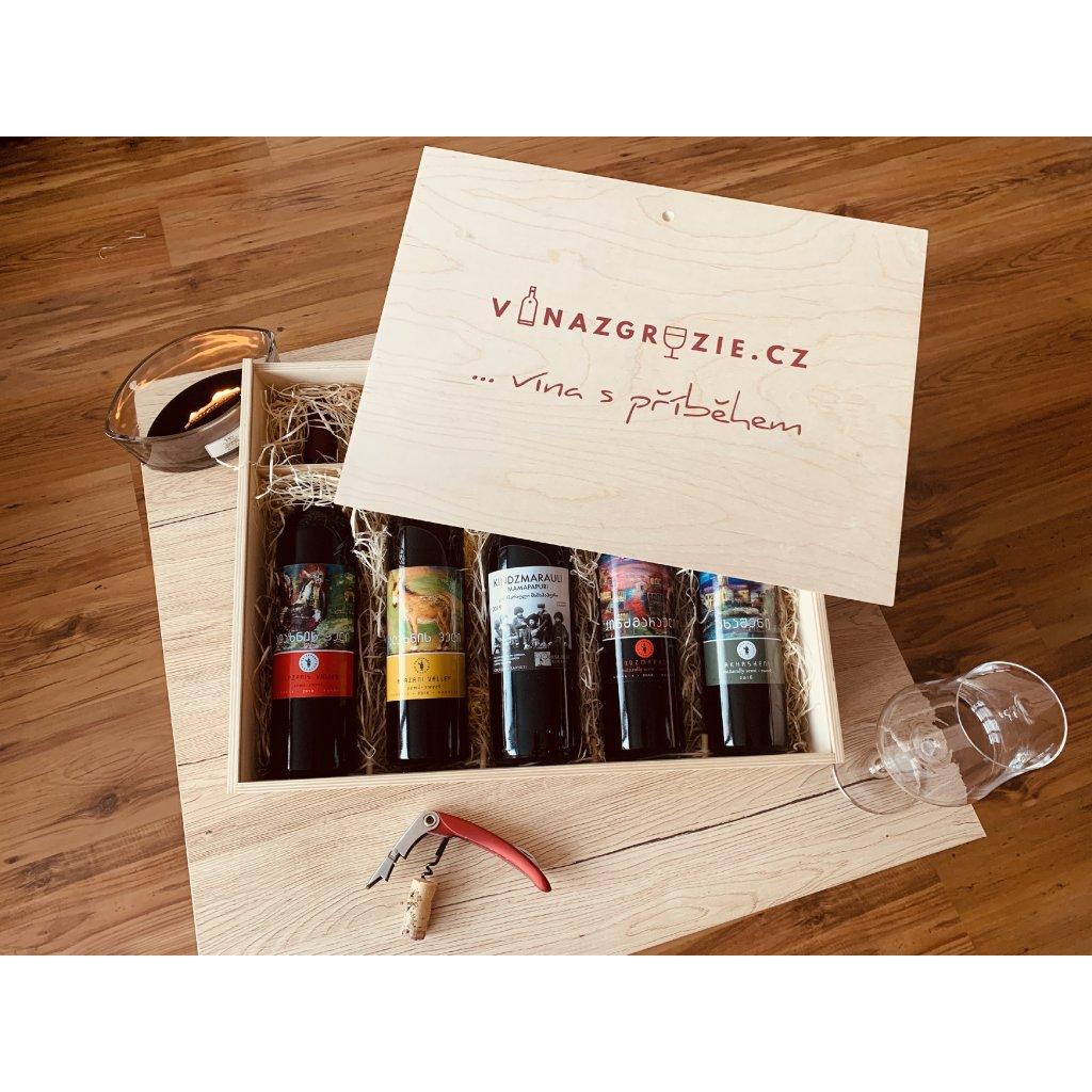 Degustační dárkový box polosladkých vín